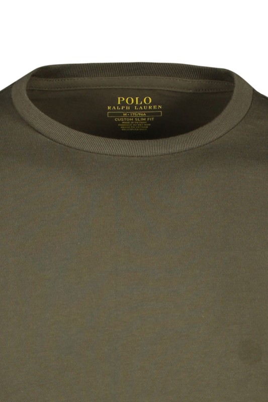Olijfgroen t-shirt Ralph Lauren Custom Slim Fit