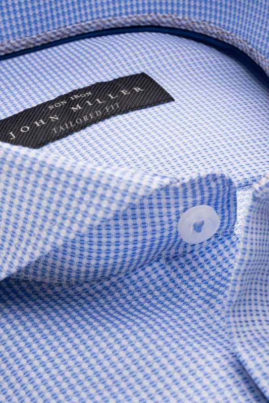 John Miller overhemd blauw Tailored Fit