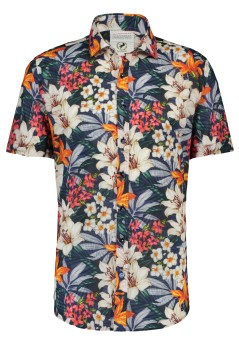 A Fish Named Fred shirt korte mouw jungle flowers