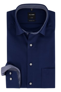 Overhemd Olymp donkerblauw Modern Fit