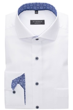 Eterna shirt wit sleeve 7 Comfort Fit