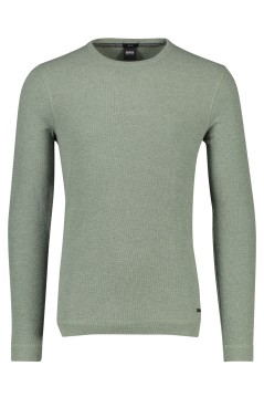 Hugo Boss trui Tempest groen Slim Fit