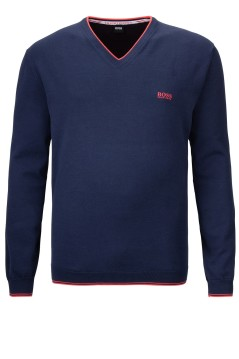 Hugo Boss pullover navy Big & Tall v-hals