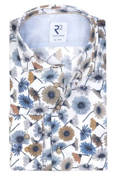 Wit shirt R2 all over print van margrietjes