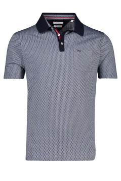 Brax polo donkerblauw geprint
