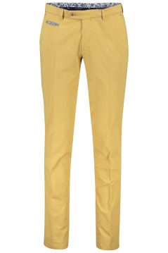 Portofino chino slim fit geel