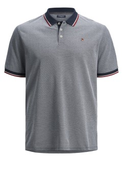 Poloshirt Jack & Jones Plus Size navy gemêleerd