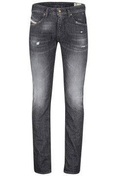 Diesel 5-pocket Thommer zwart washed