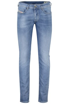 Diesel 5-pocket Sleenker blauw
