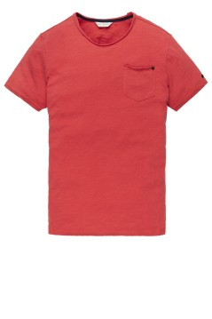 Cast Iron t-shirt rood ronde hals
