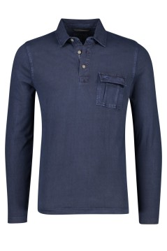 Camel Active polo lange mouw navy
