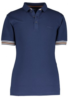 State of Art polo donkerblauw effen