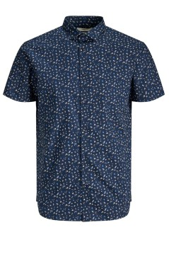Jack & Jones shirt Plus Size navy print