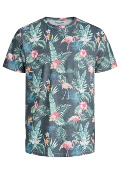 T-shirt tropical birds Jack & Jones Plus Size