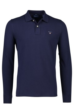 Gant lange mouwen polo Regular Fit navy