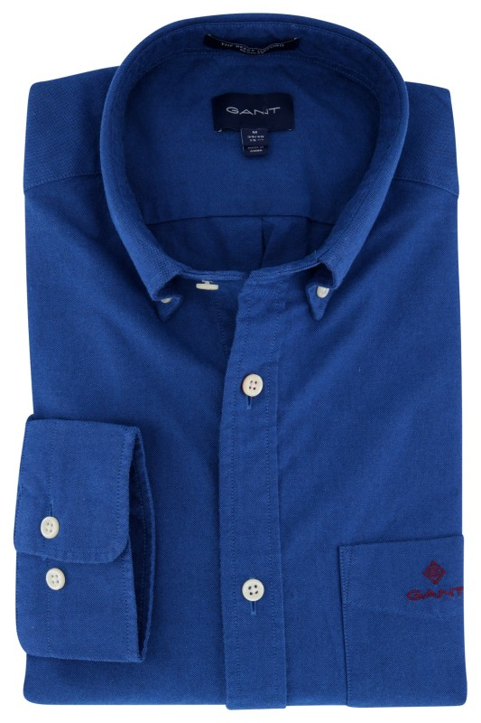 Gant overhemd blauw Regular Fit