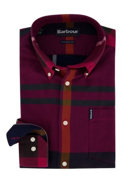 Barbour shirt rood geruit Tailored Fit