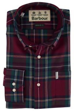 Barbour overhemd geruit rood groen Regular Fit