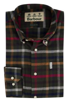 Barbour shirt Regular Fit groen geruit