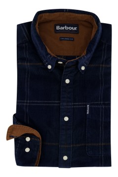 Barbour shirt donkerblauw geruit Tailored Fit