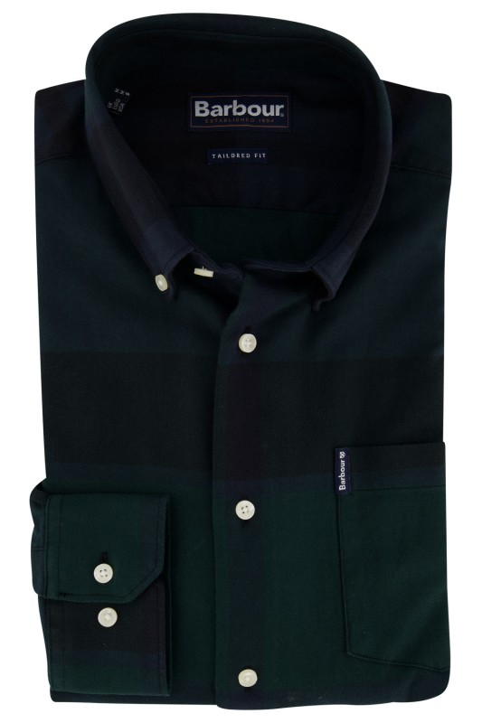 Overhemd Barbour groen Tailored Fit