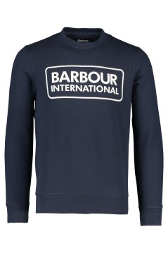 Barbour sweater logo donkerblauw