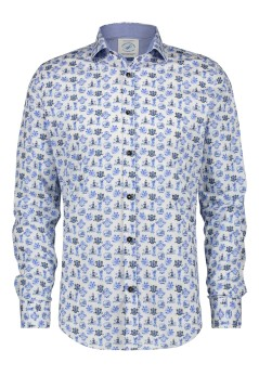 A Fish Named Fred shirt Delfts blauw