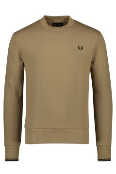 Beige trui ronde hals Fred Perry