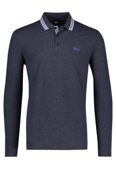 Hugo Boss lange mouwen polo Regular Fit navy