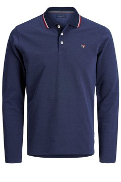 Polo lange mouw Jack & Jones Plus Size navy