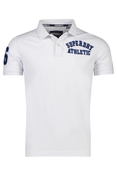 Witte polo Superdry Superstate