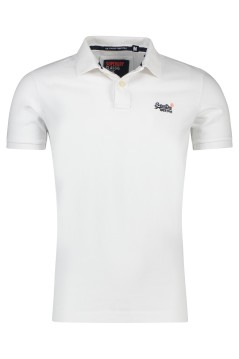 Wit poloshirt Superdry Classic