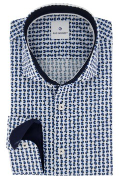 Blue Industry shirt blauwe print