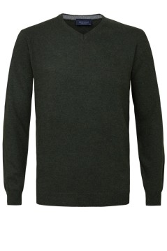 Pullover Profuomo groen wol mix