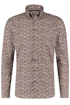 State of Art casual shirt bruin print