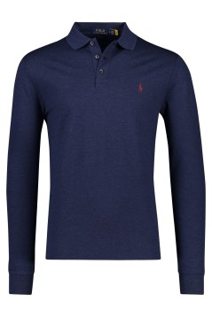 Ralph Lauren lange mouwen polo Slim Fit navy