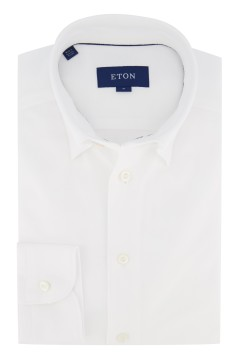 Eton shirt slim fit stretch wit pique