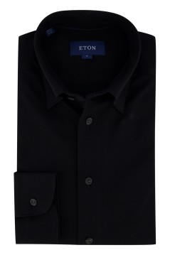 Overhemd Eton zwart Slim Fit button down