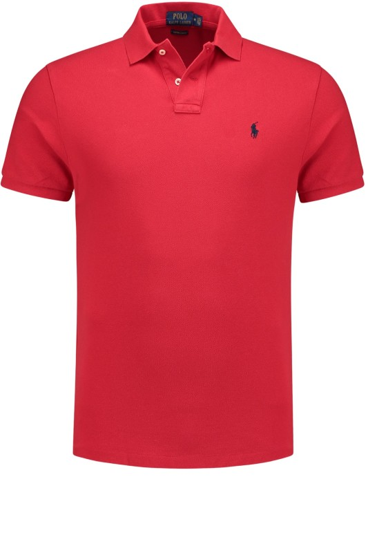 Poloshirt Ralph Lauren rood custom slim fit