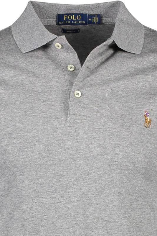 Ralph Lauren polo grijs slim fit