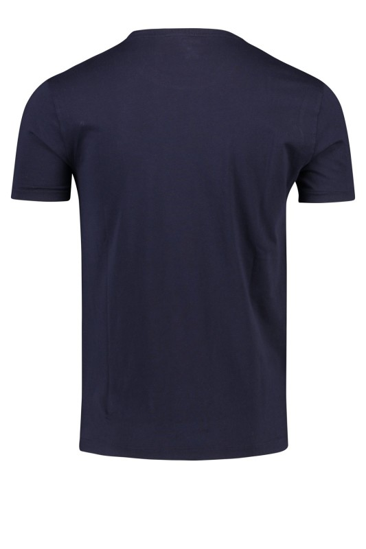 Ralph Lauren t-shirt donkerblauw Custom Slim Fit