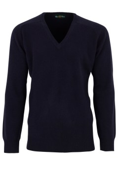 Alan Paine trui navy classic fit v-hals Hampshire
