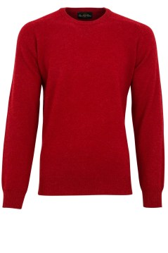 Pullover Alan Paine lamswol ronde hals rood