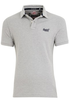 Superdry polo Classic Piqué Grijs Slim Fit