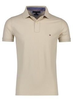 Tommy Hilfiger polo Slim Fit beige katoen