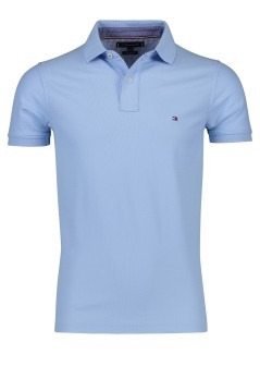 Tommy Hilfiger slim fit polo lichtblauw