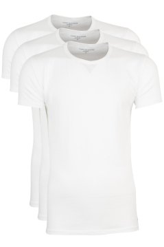 Tommy Hilfiger t-shirts wit 3-pack ronde hals