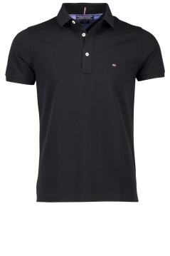 Tommy Hilfiger polo zwart slim fit