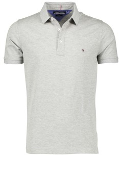 Tommy Hilfiger polo slim fit grijs melange