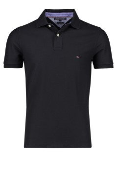 Tommy Hilfiger polo Premium Pique zwart slim fit